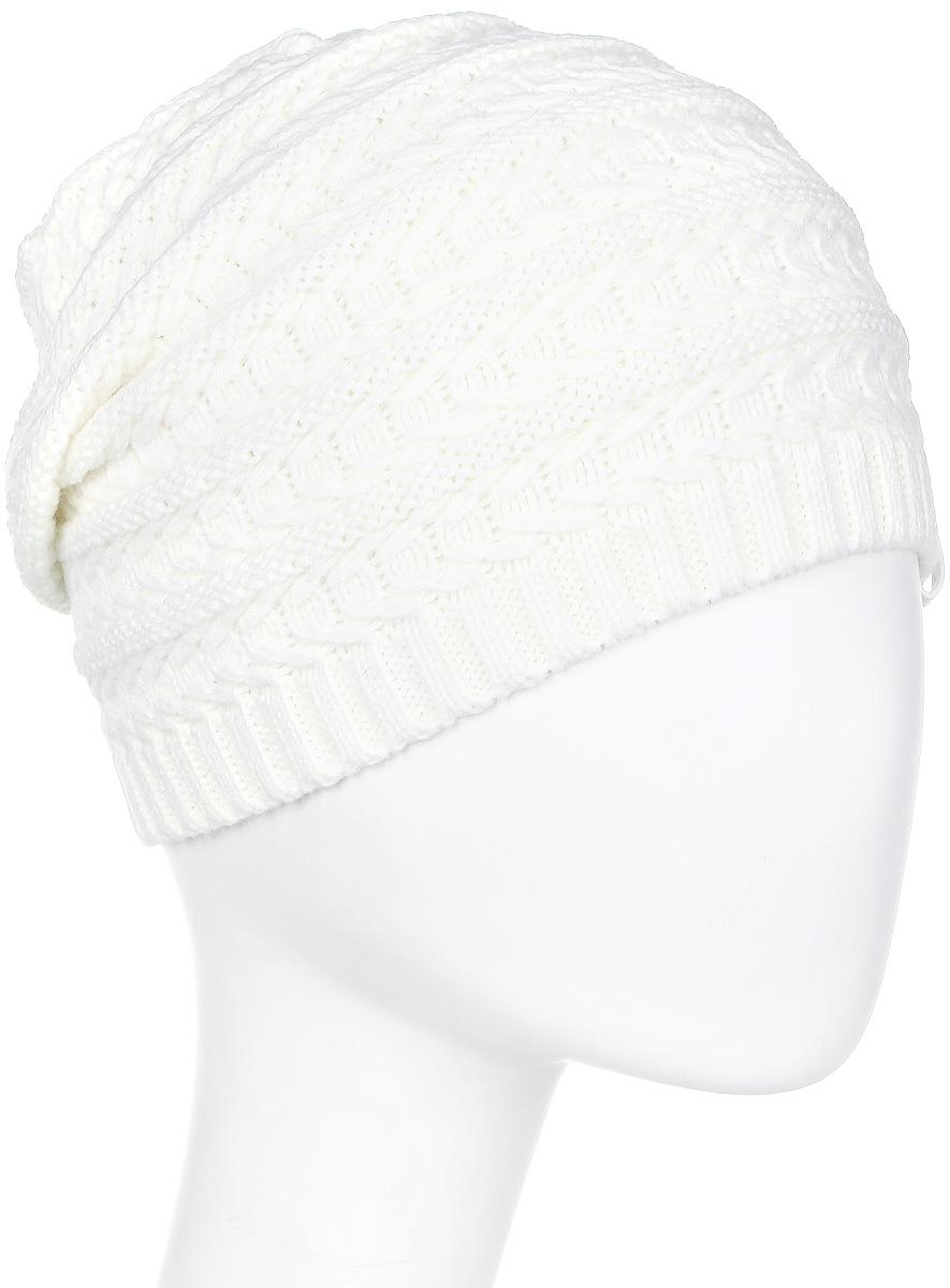 Шапка женская Luhta, цвет: белый. 838620691LV-010. Размер универсальный838620691LV-010