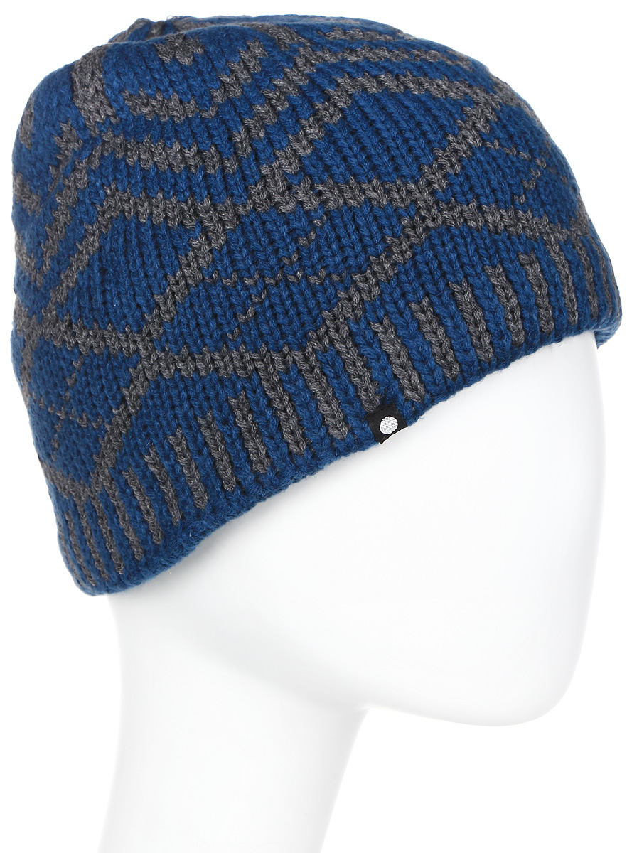 Шапка мужская Icepeak, цвет: синий, темно-серый. 858839579IV-365. Размер универсальный