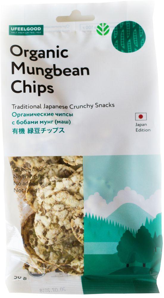 UFEELGOOD Organic Mungbean Chips органические чипсы с бобами мунг маш, 50 г596Органические бобовые чипсы приготовлены из натуральных бобов мунг высокого качества.Они не содержат глютен и выпекаются без масла, сохраняя естественный аромат и рассыпчатость. Легкие, вкусные и хрустящие угощения прекрасно подойдут к соусам, супам и салатам. Чипсы из бобов мунг - это идеальный перекус для детей, а также людей, заботящихся о своем здоровье, и вегетарианцев.-Без глютена-Запеченный (не жаренный) -Без добавок-Без консервантов-Без добавления сахара-Не содержит транс-жиров-Не содержит молочных продуктов.