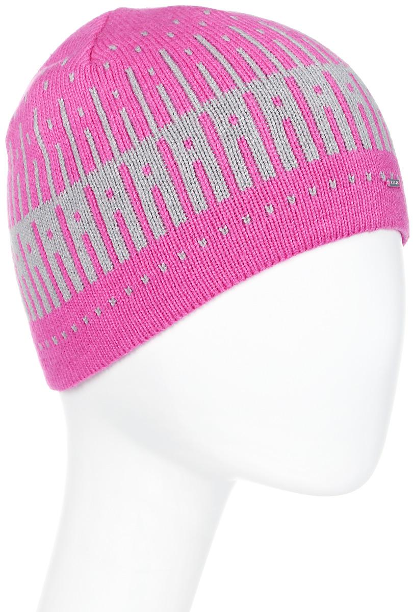 Шапка женская Luhta, цвет: розовый, светло-серый. 838600846LV-659. Размер универсальный838600846LV-659