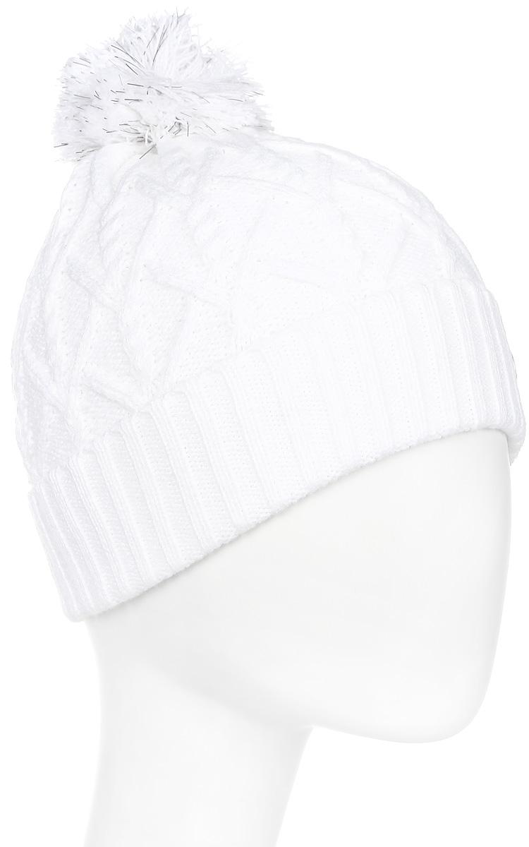 Шапка женская Luhta, цвет: белый. 838607691LV-980. Размер универсальный838607691LV-980