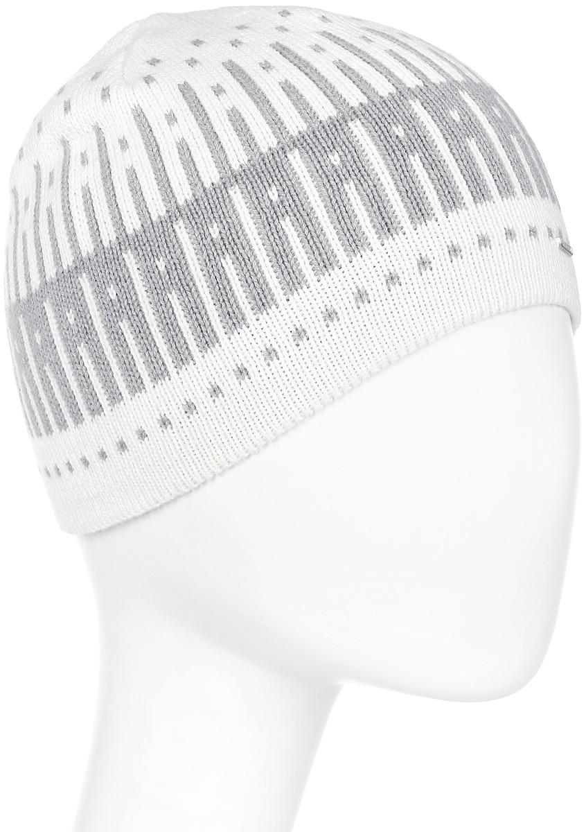 Шапка женская Luhta, цвет: белый, светло-серый. 838600846LV-010. Размер универсальный838600846LV-010