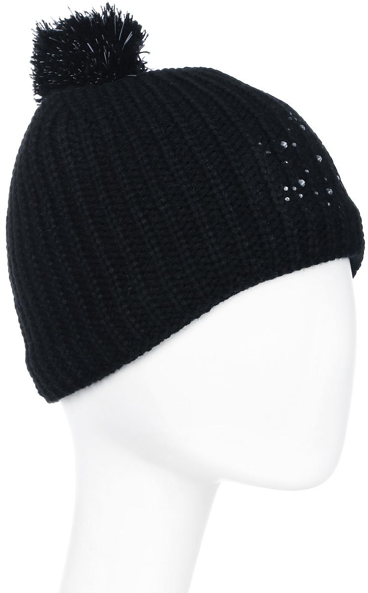 Шапка женская Icepeak, цвет: черный. 855822579IV-990. Размер универсальный855822579IV-990