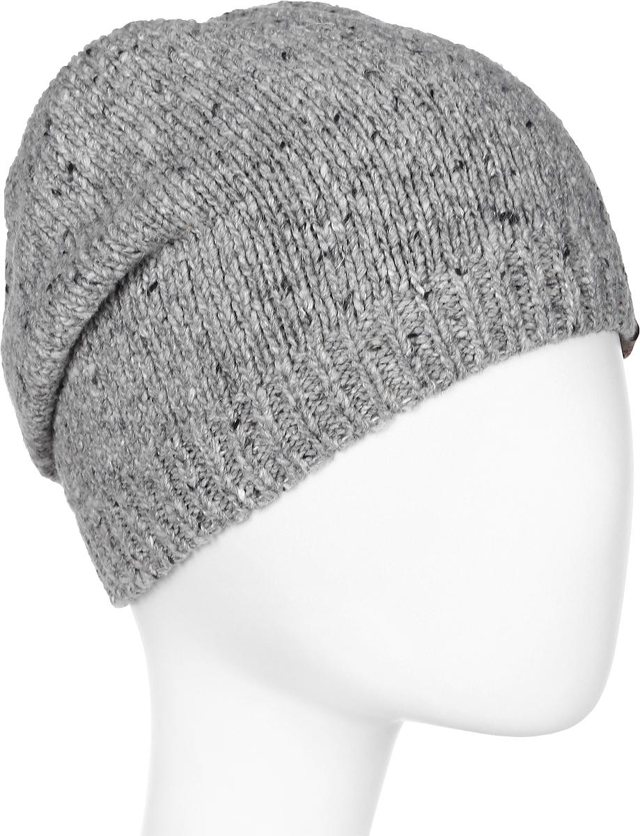 Шапка женская Marhatter, цвет: светло-серый. MWH7182/2. Размер 56/58MWH7182/2Стильная шапка-колпак, выполнена из высококачественной пряжи. Модель очень актуальна для тех, кто ценит комфорт, стиль и красоту. Отличный вариант на каждый день.