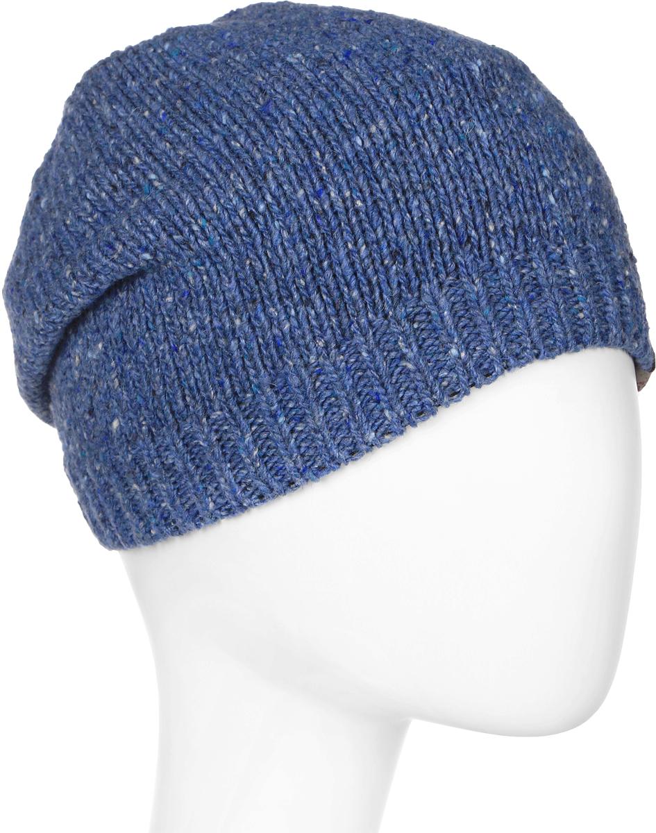 Шапка женская Marhatter, цвет: синий. MWH7182/2. Размер 56/58MWH7182/2Стильная шапка-колпак, выполнена из высококачественной пряжи. Модель очень актуальна для тех, кто ценит комфорт, стиль и красоту. Отличный вариант на каждый день.
