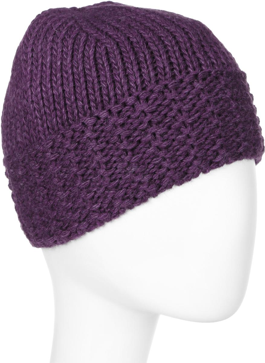 Шапка женская Elfrio, цвет: фиолетовый. Размер 56/58. RWH6107/2RWH6107/2Отличная вязаная шапка Elfrio выполнена из акрила в стиле сasual. Подкладка исполнена из полиэстера. Модель прекрасно подойдет для женщин, ценящих комфорт и красоту. Незаменимая вещь на прохладную погоду.
