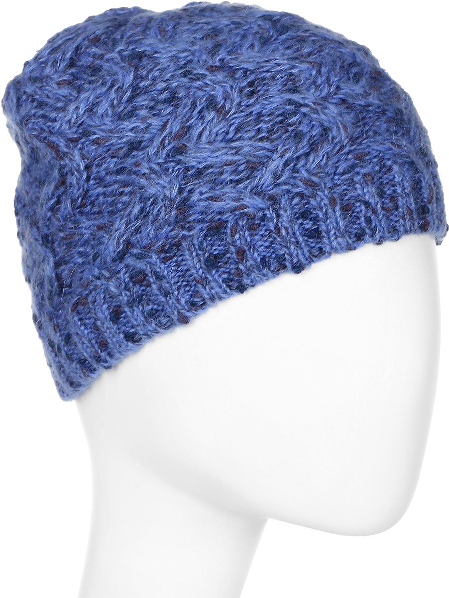 Шапка женская Snezhna, цвет: голубой. Размер 56/58. SWH6750/2SWH6750/2Стильная шапка, выполнена из высококачественной пряжи. Модель очень актуальна для тех, кто ценит комфорт, стиль и красоту. Отличный вариант на каждый день.