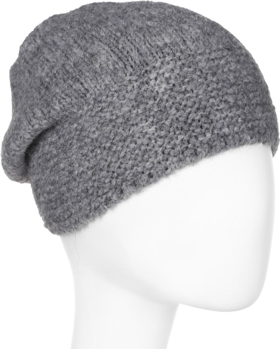 Шапка женская Snezhna, цвет: серый. Размер 56/58. SWH7100/2SWH7100/2Стильная шапка-колпак, выполнена из высококачественной пряжи. Модель очень актуальна для тех, кто ценит комфорт, стиль и красоту. Отличный вариант на каждый день.