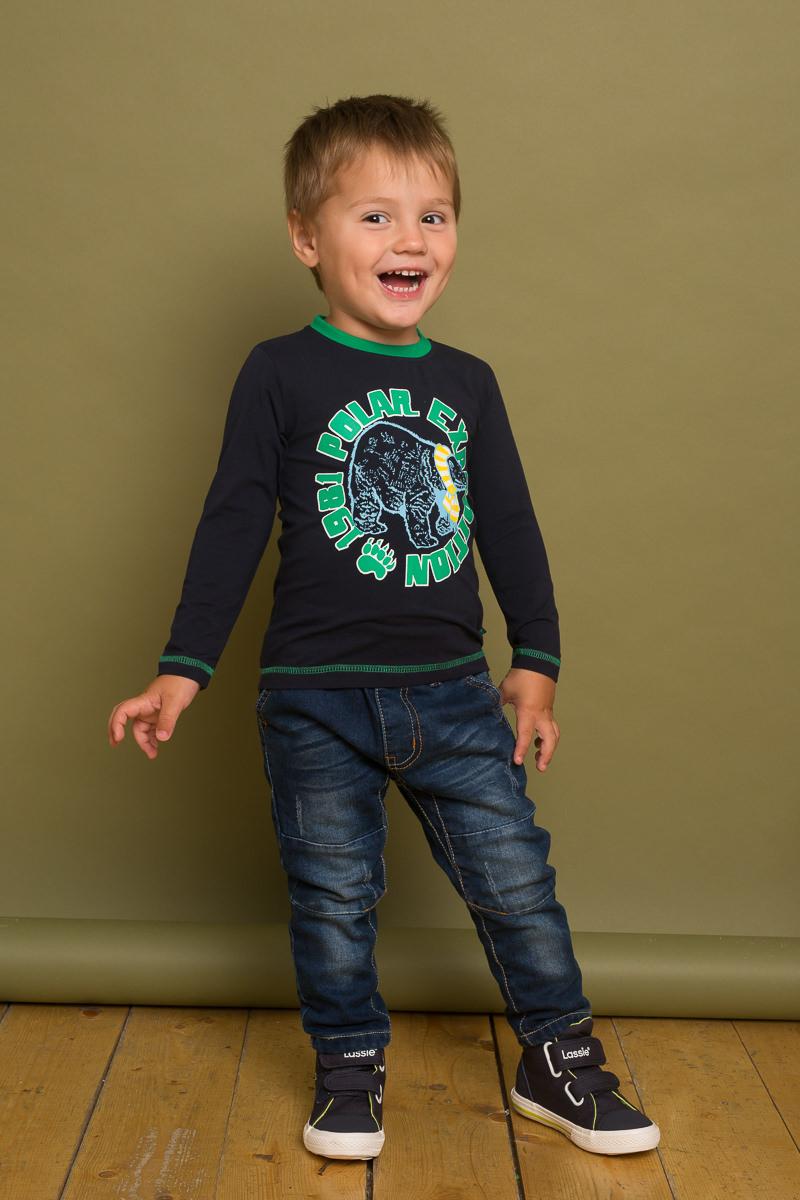 Футболка с длинным рукавом для мальчика Sweet Berry Baby, цвет: темно-синий. 731004. Размер 80