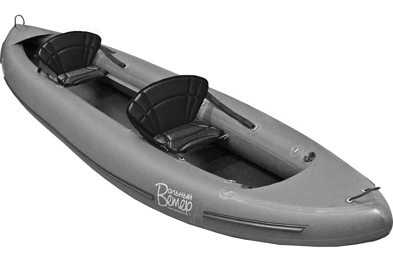 Лодка надувная Вольный ветер Ермак 450, цвет: серый, черный, 450 х 96 см11040Надувная байдарка Вольный ветер Ермак 450 - прекрасный выбор для любителей рыбалки, сплавов и походов по озерам и спокойным рекам. Размеры байдарки позволяют использовать ее как двухместную в длительных походах, а в ПВД и туристам небольших габаритов - как трехместную. Подготовка к плаванию и обслуживание байдарки занимают минимум времени, вес и габариты байдарки в сложенном виде невелики. Байдарку можно использовать как в пресной, так и в соленой воде. Имеется возможность установки парусного вооружения.Габариты в упакованном виде (ДхШхВ): 90 х 40 х 25 см. Количество мест: 2. Длина: 450 см. Ширина: 96 см. Вес: 12,2 кг. Тип конструкции: монобаллонная. Наличие самоотливов: нет. Система накачивания: клапан типа Браво. Количество надувных емкостей: 2. Наличие надувного дна: нет. Материал оболочки: ПВХ. Грузоподъемность: 250 кг.Как выбрать надувную лодку для рыбалки. Статья OZON Гид