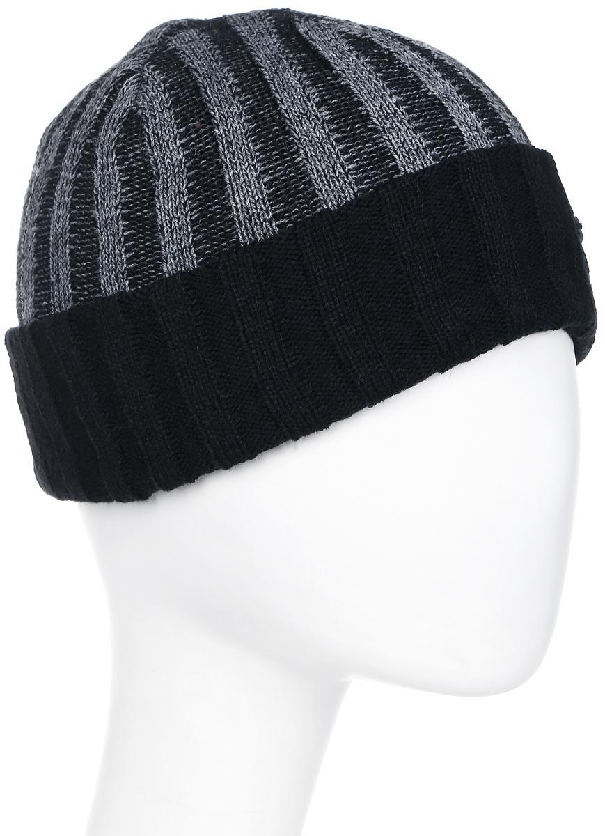 Шапка мужская Luhta, цвет: черный, серый. 838660300LV-990. Размер универсальный