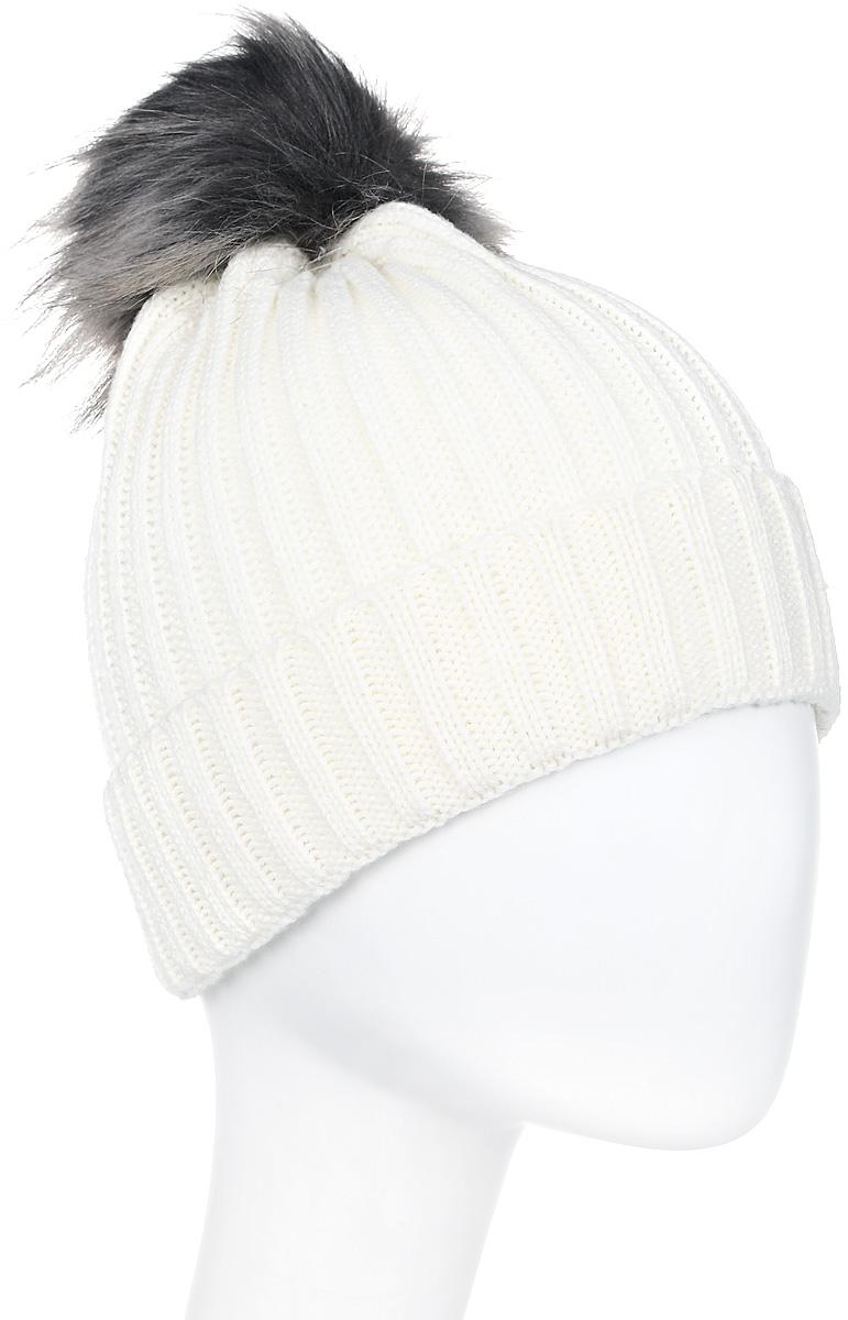Шапка женская Icepeak, цвет: белый. 855812578IV-010. Размер универсальный855812578IV-010