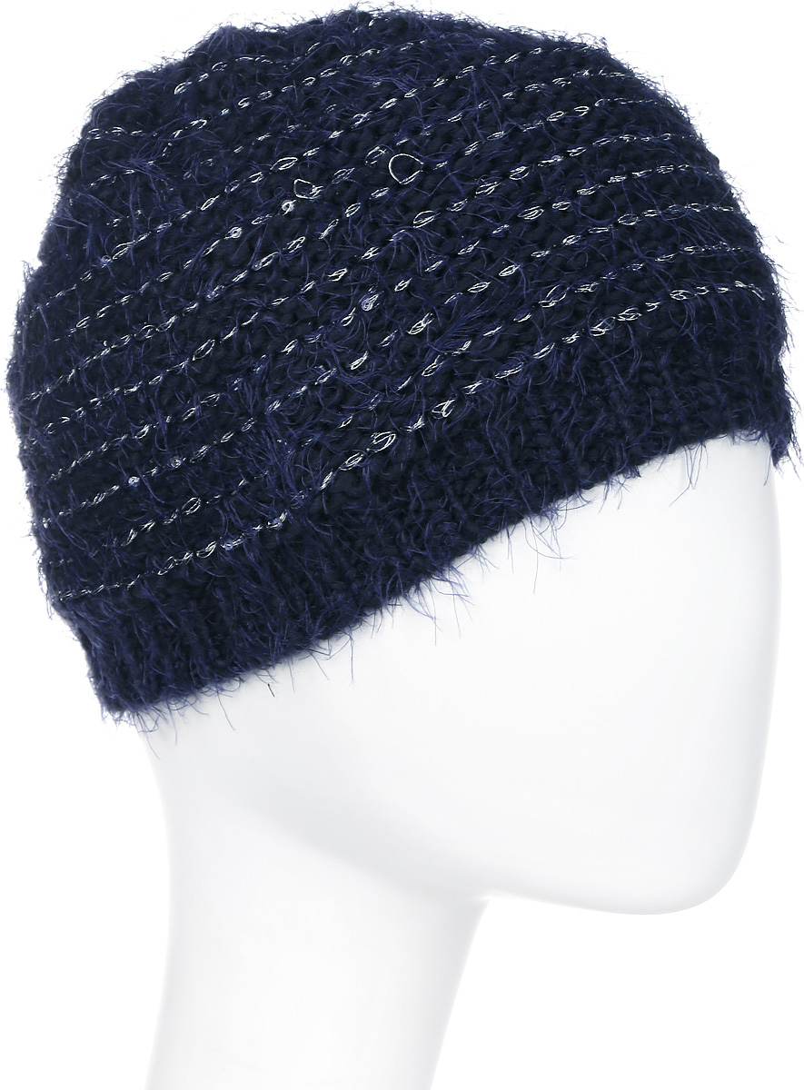 Шапка женская Icepeak, цвет: синий. 855809615IVX-390. Размер универсальный855809615IVX-390