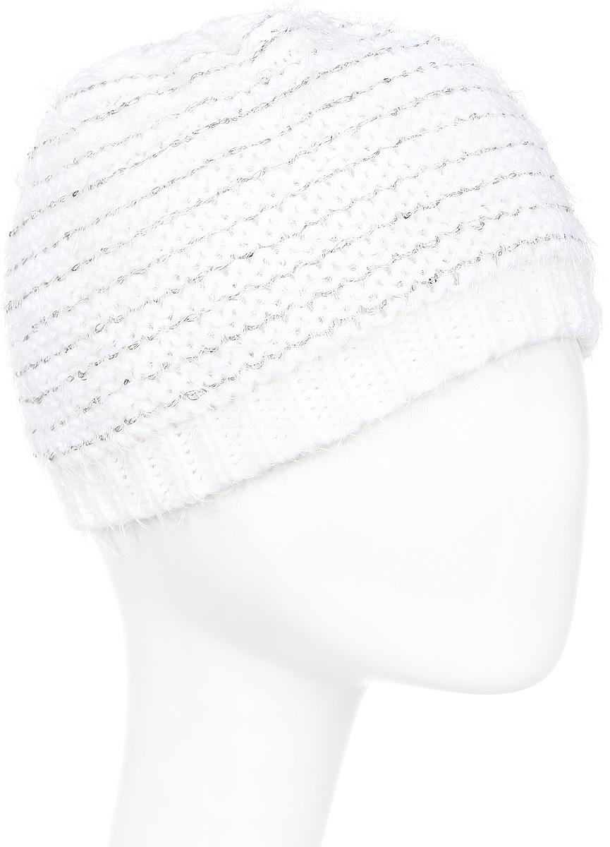 Шапка женская Icepeak, цвет: белый. 855809615IVX-010. Размер универсальный855809615IVX-010