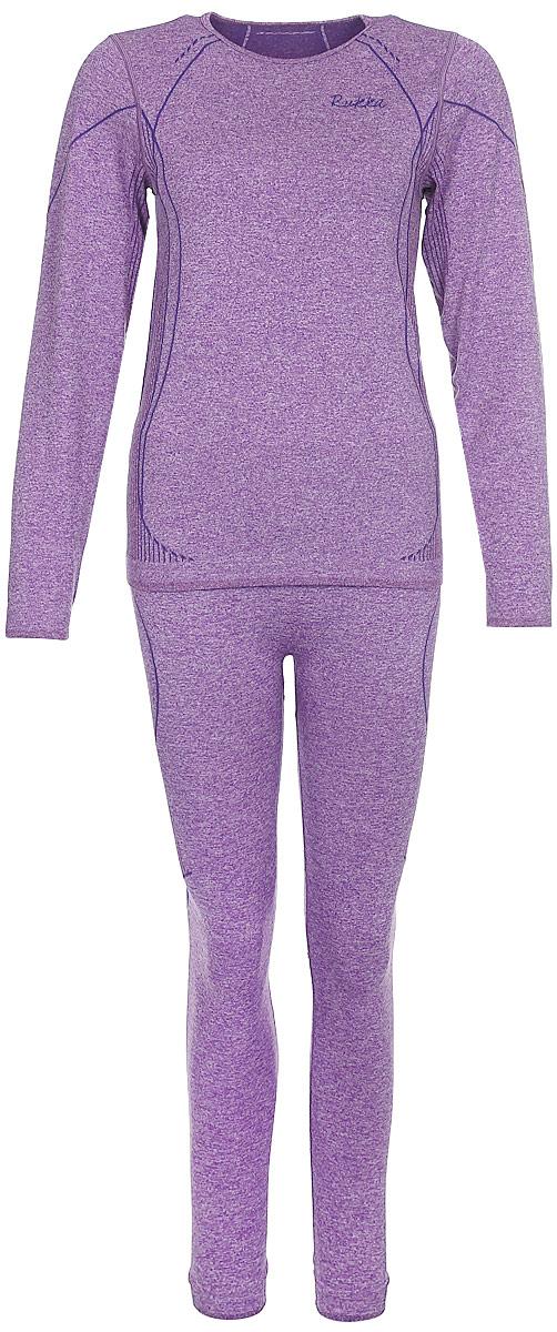 Комплект (футболка с длинным рукавом и леггинсы) жен Rukka, цвет: фиолетовый. 870519211RV_772. Размер 38 (46)870519211RV_772