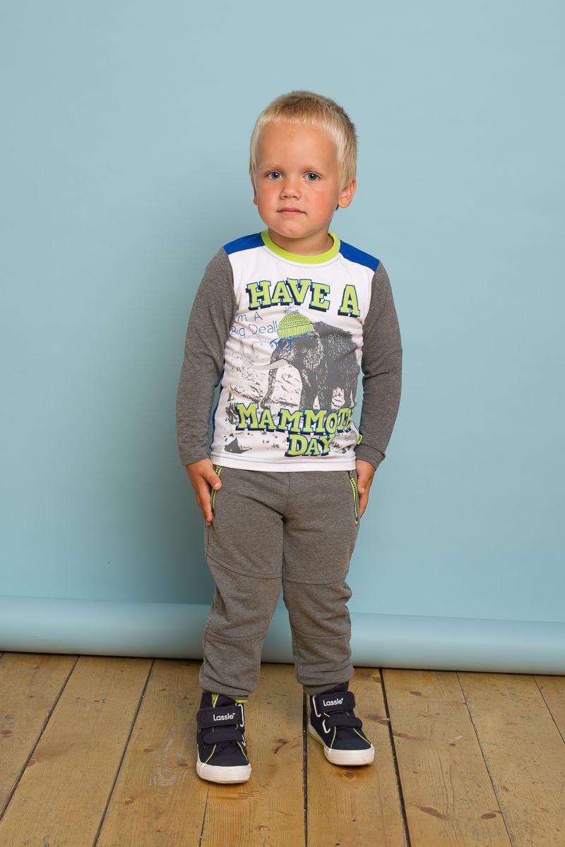 Футболка с длинным рукавом для мальчика Sweet Berry Baby, цвет: белый. 731030. Размер 80731030Трикотажная футболка с длинным рукавом из мягкой хлопковой ткани декорированная анималистическим принтом и контрастной отделкой.