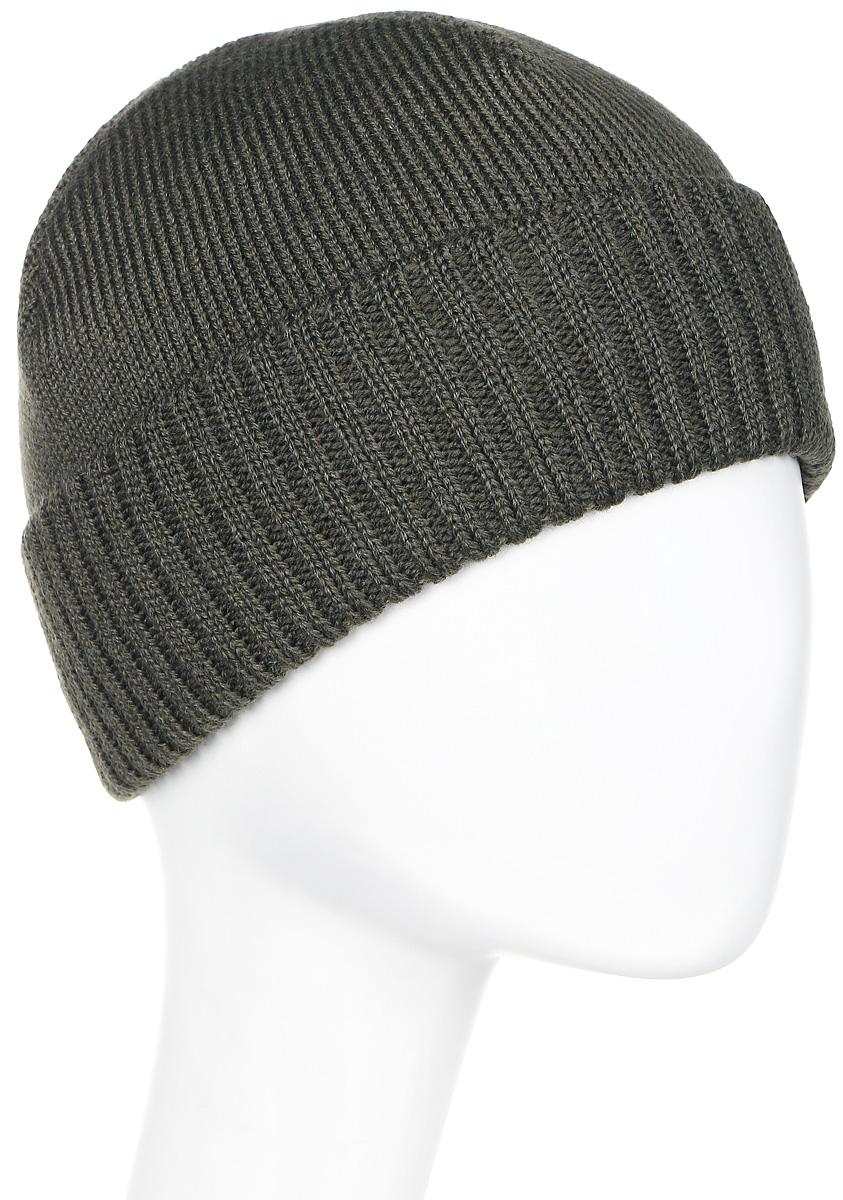 Шапка мужская Marhatter, цвет: темно-зеленый. Размер 56/58. 27182718Универсальная шапка, отлично подходит под любой стиль одежды. Сдержанный строгий дизайн, деликатная отделка и классические цвета.