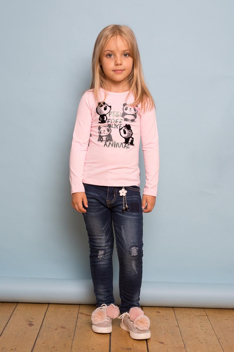 Футболка с длинным рукавом для девочки Sweet Berry, цвет: розовый. 734042. Размер 110734042Трикотажная футболка с длинным рукавом от Sweet Berry выполнена из мягкого хлопкового полотна и декорирована милым принтом. Округлый вырез горловины.