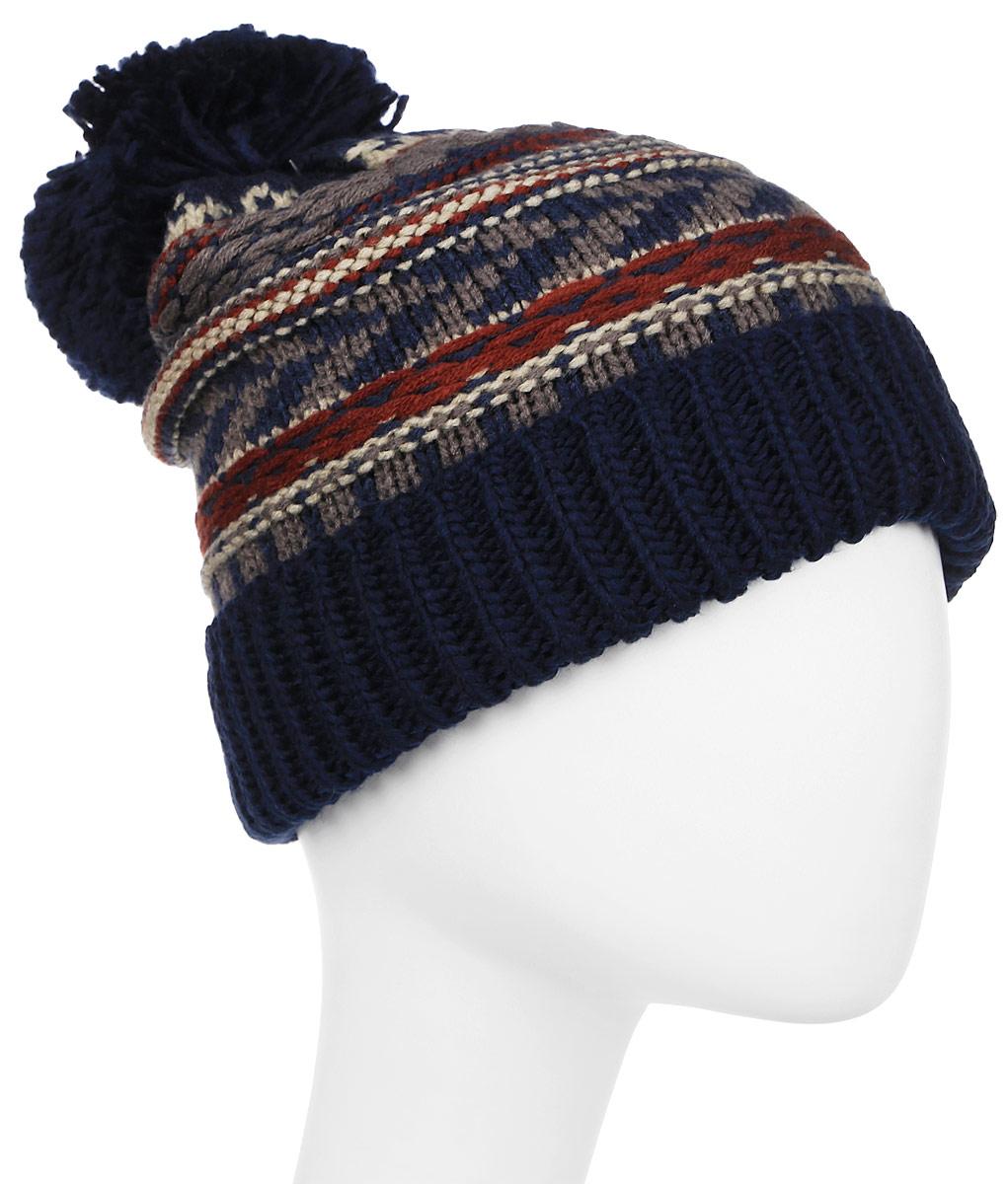 Шапка Columbia Stay Frosty Beanie Hat, цвет: темно-синий. 1749541-464. Размер универсальный1749541-464Удобная и практичная шапка от Columbia пригодится в путешествиях. Модель выполнена из мягкой акриловой пряжи.