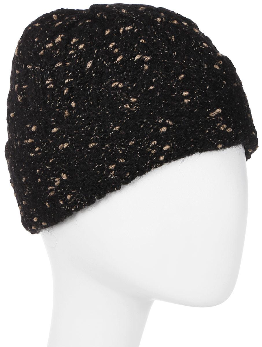 Шапка женская Snezhna, цвет: черный. Размер 56/58. SWH6084/2SWH6084/2Стильная женская шапка с отворотом выполнена из фантазийной объемной пряжи. В составе пряжи содержится мохер, что делает ее теплой в холодную погоду. Модель утеплена флисом.