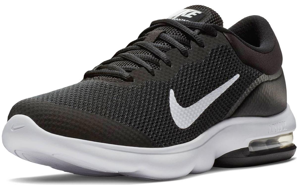 Кроссовки мужские Nike Air Max Advantage Running Shoe, цвет: черный. 908981-001. Размер 10,5 (44)908981-001Мужские беговые кроссовки Nike, выполненные из текстиля и пластика, дополнены фирменной нашивкой на язычке. Верх из сетки комфортно облегает стопу, а вставка в области пятки создает упругую амортизацию на всей дистанции. Накладка из пеноматериала обхватывает пятку для дополнительной прочности и стабилизации. Инжектированная подошва со вставкой Max Air обеспечивает легкость, амортизацию и плавность движений. Подошва с рифлением обеспечивает отличное сцепление на любой поверхности. Мягкие и удобные, кроссовки превосходно подчеркнут ваш спортивный образ и подарят комфорт.