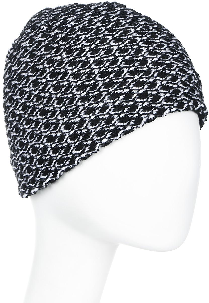 Шапка женская Icepeak, цвет: черный, белый. 855844618IV-990. Размер универсальный855844618IV-990