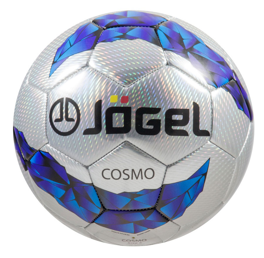 """Фото Мяч футбольный Jogel """"Cosmo"""", цвет: серый, синий. Размер 5. JS-300"""