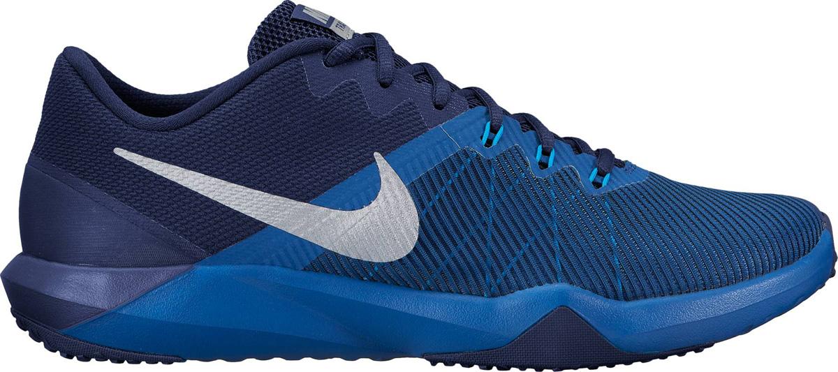 Кроссовки мужские Nike Retaliation TR Training Shoe, цвет: синий. 917707-400. Размер 9,5 (43)917707-400Мужские кроссовки для тренинга Nike, выполненные из текстиля и пластика, дополнены принтом и на язычке фирменной нашивкой. Верх из сетки обеспечивает легкость и вентиляцию. Продуманное расположение резиновых накладок на подметке обеспечивает превосходное сцепление на разных поверхностях. Классическая шнуровка надежно зафиксирует изделие на ноге. Язычок из многослойной сетки для удобной посадки. Пеноматериал двойной плотности обеспечивает амортизацию без утяжеления. Внешний валик обеспечивает поддержку боковой части. В таких кроссовках вашим ногам будет уютно и комфортно.