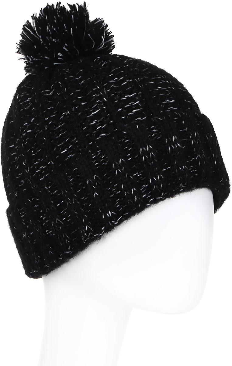 Шапка женская Luhta, цвет: черный. 838624300LV-990. Размер универсальный