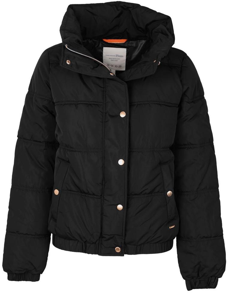 Куртка женская Tom Tailor, цвет: черный. 3555012.00.71_2999. Размер M (46)3555012.00.71_2999Куртка женская Tom Tailor выполнена из натурального полиэстера. Модель с длинными рукавами застегивается на кнопки и молнию.