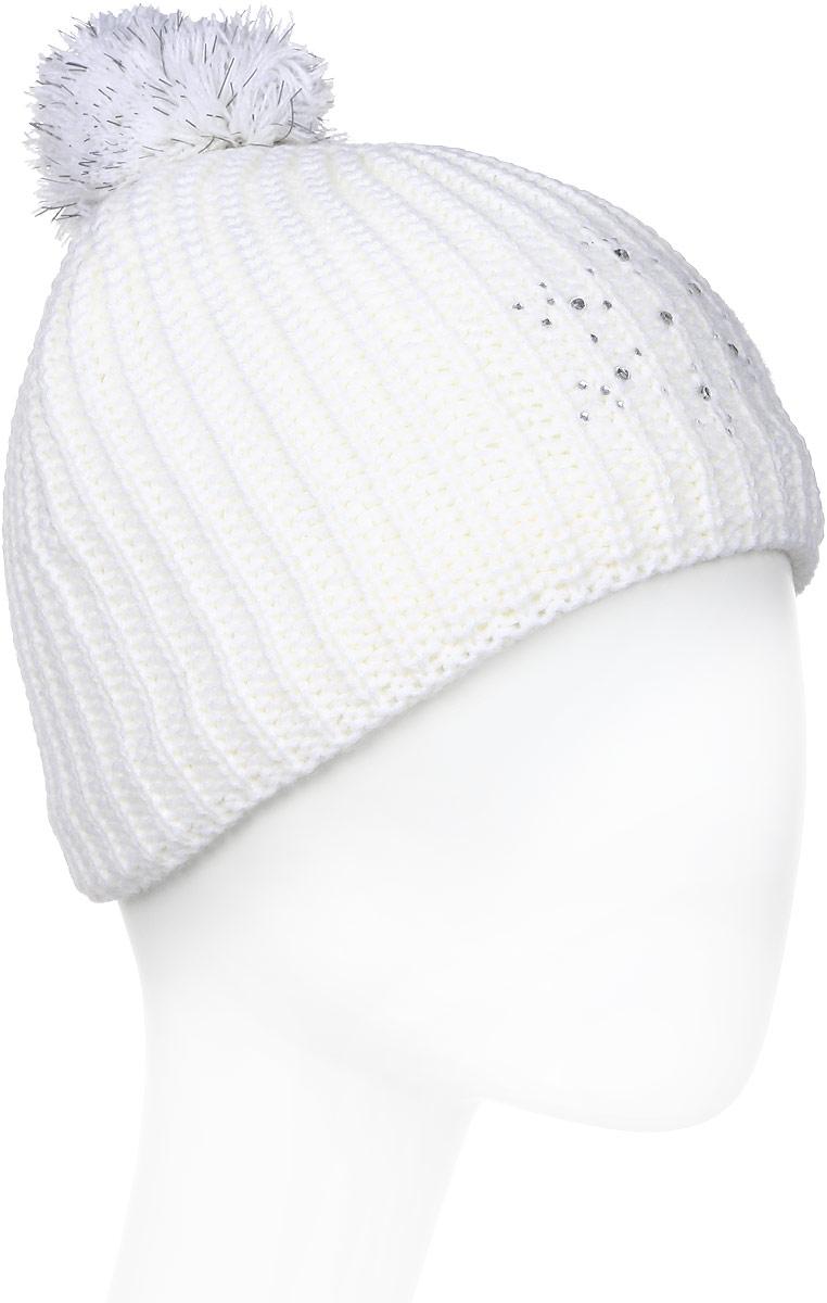 Шапка женская Icepeak, цвет: белый. 855822579IV-980. Размер универсальный855822579IV-980