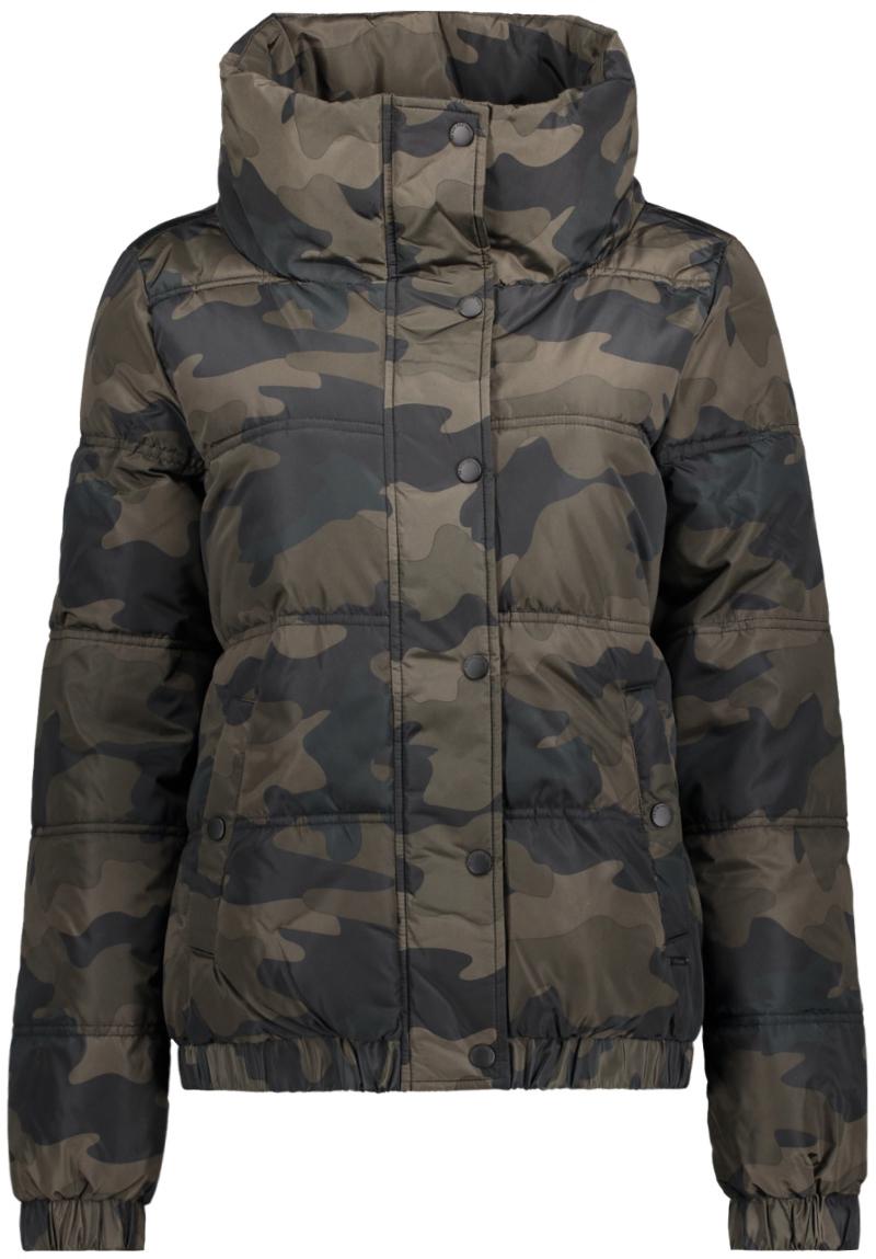 Куртка женская Tom Tailor, цвет: хаки. 3555012.00.71_1002. Размер M (46)3555012.00.71_1002Куртка женская Tom Tailor выполнена из натурального полиэстера. Модель с длинными рукавами застегивается на кнопки и молнию.