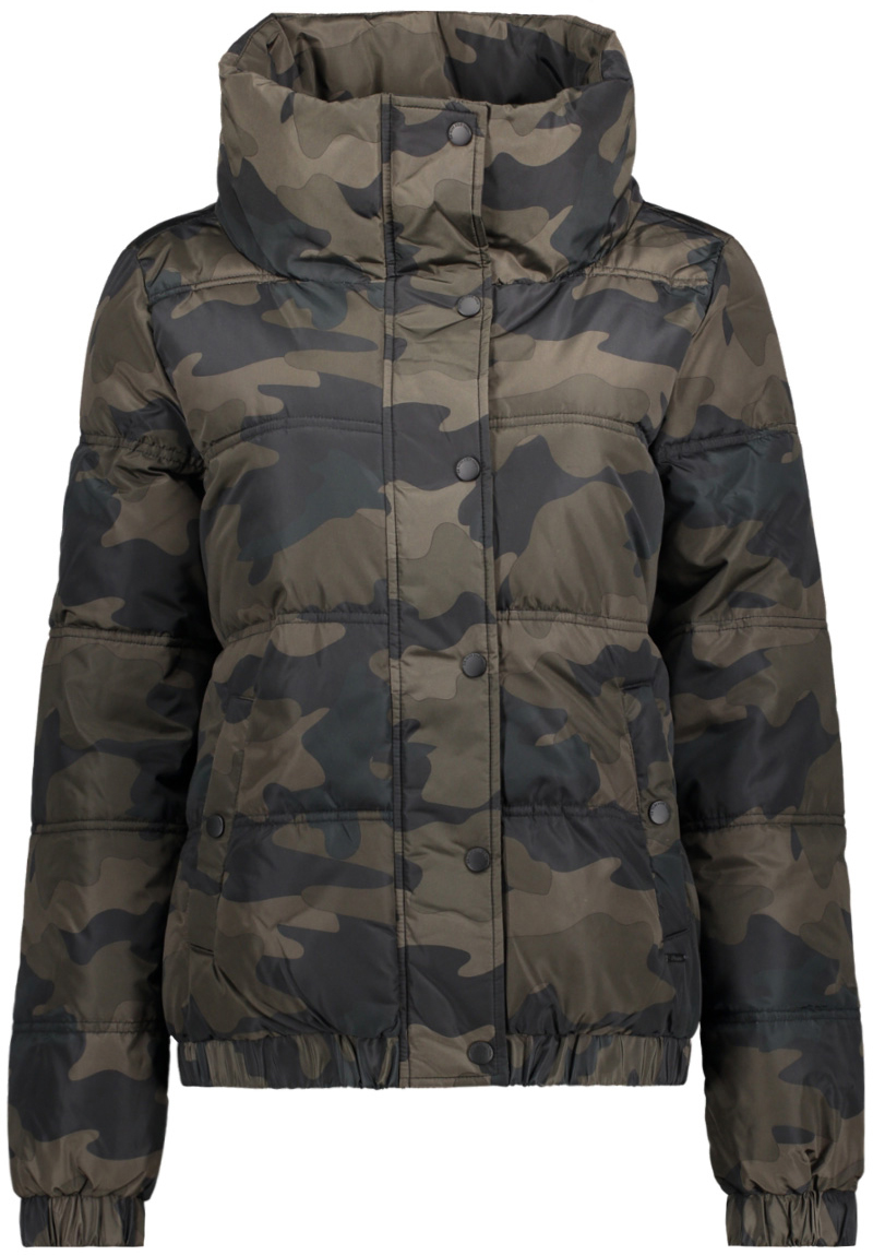 Куртка жен Tom Tailor, цвет: хаки, камуфляж. 3555012.00.71_1002. Размер M (46)3555012.00.71_1002