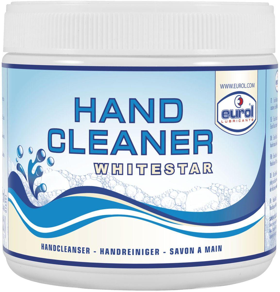 Очиститель рук EUROL HANDCLEANER WHITESTAR, 600 млE601440-600mlEUROL HANDCLEANER WHITESTAR Высококачественное средство для мытья рук с абразивом. Подходит для удаления смазочных веществ, тормозных жидкостей, горючих материалов и жиров. Не содержит растворителей. Обладает свойством восстановления кожи, pH нейтрально, производится из эфиров жожоба, экстрактов алоэ вера, продуктов ланолина и экологически чистого абразива (на основе полимеров). Прошло ряд дерматологических испытаний и является биоразлагаемым.СВОЙСТВА:- Биоразлагаемое (73/404/EEC)- Соответствует законодательству ЕС о косметических изделиях (76/768/EU)СПОСОБ ПРИМЕНЕНИЯ:Нанесите мыло на сухие руки, растирайте пока не будет удалена грязь, смойте водой или удалите тканью.Хранить при температуре выше 0°C.