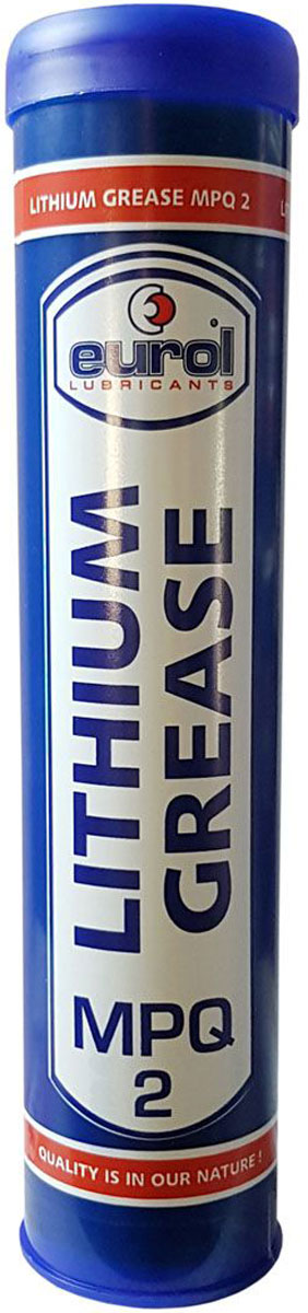 Смазка консистентная EUROL Lithium Grease MPQ-2, 400 гE901039-400gУниверсальная литиевая смазка для различных областей применения.Eurol Multi Purpose Grease 2 (Многоцелевое Качество) является высококачественной стабильной смазкой на основе минерального масла и литиевого комплекса в качестве загустителя. Из-за присутствия добавок и высокой адгезией к металлам эта смазка обладает хорошими антиоксидантными и антикоррозионными свойствами.Eurol Multi Purpose Grease 2 может использоваться до 120° С, с пиковая температура до 130° C. Кроме того, Eurol® Multi Purpose Grease 2 подходит для высоких рабочих нагрузок, ударных нагрузок.Eurol Multi Purpose Grease 2 гарантирует оптимальную защиту, при тяжелых условиях работы, продлевает срок службы оборудования, снижает затраты на техническое обслуживание. ПРОИЗВОДИТЕЛЬНОСТЬ•DIN K 2 K -30 (NLGI 2)•DIN K 3 K -30 (NLGI 3)Применение:- Шарикоподшипники- Ступица колеса- Универсальные шарниры- Повороты шасси