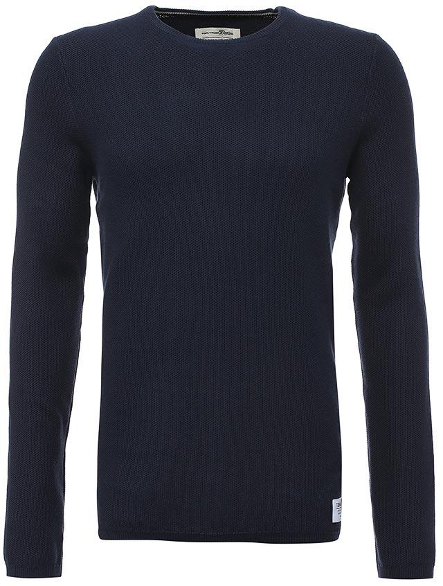 Джемпер мужской Tom Tailor, цвет: темно-синий. 3022868.09.12_6740. Размер XL (52) джемпер мужской tom tailor denim цвет бордовый 3022104 01 12 4257 размер xl 52