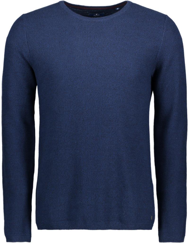 Джемпер мужской Tom Tailor, цвет: синий. 3022830.09.10_6800. Размер M (48)3022830.09.10_6800Джемпер мужской Tom Tailor выполнен из натурального хлопка. Модель с круглым вырезом горловины и длинными рукавами.