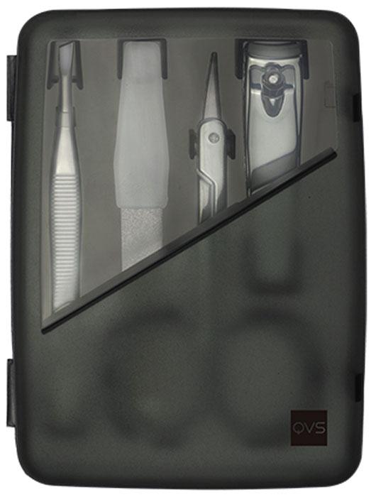 QVS Компактный маникюрный набор: кусачки, ножницы для кутикулы, пилочка. 10-130010-1300Набор для маникюра. 4 инструмента для ежедневного ухода за ногтями. В комплекте удобный футляр для хранения с магнитными держателями.Представляем набор из четырех незаменимых предметов для ежедневного ухода за ногтями. Кусачки маникюрные: Быстро и эффективно обрезают излишнюю длину ногтей. Ножницы для кутикулы: Имеют тонкие лезвия, которые позволяют максимально аккуратно и безопасно удалить избыточную кутикулу и заусенцы. Двусторонняя пилка для ногтей с сапфировым напылением: Аккуратно опиливает ногти и помогает придать им идеальный вид. Имеет две рабочие поверхности: среднезернистую и мелкозернистую. Пинцет со скошенными кончиками: Идеальная универсальная форма пинцета для плотного захвата и точного удаления волосков.
