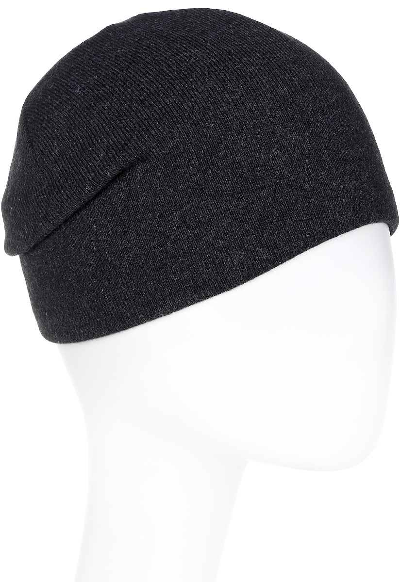 Шапка женская Elfrio, цвет: темно-серый. Размер 56/58. RLH6991/2RLH6991/2Модная легкая молодежная шапка - можно носить как колпак и как обычную шапку с отворотом. Модель дополнена вышивкой