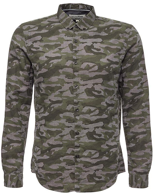 Рубашка мужская Tom Tailor, цвет: мультиколор. 2055042.00.12_1004. Размер XL (52)2055042.00.12_1004Рубашка мужская Tom Tailor выполнена из хлопка. Модель с отложным воротником застегивается на пуговицы.