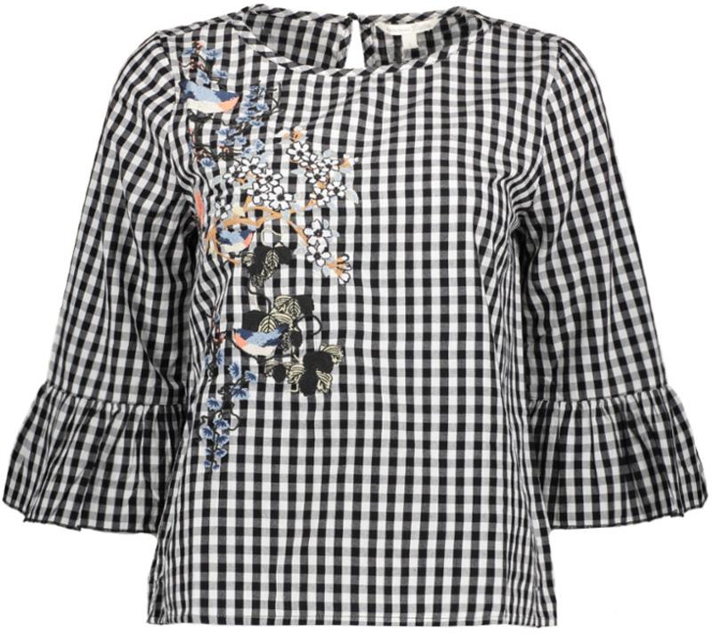 Блузка женская Tom Tailor, цвет: белый. 2055035.00.71_1008. Размер S (44)2055035.00.71_1008Блузка женская Tom Tailor выполнена из натурального хлопка. Модель с круглым вырезом горловины оформлена оригинальным принтом.