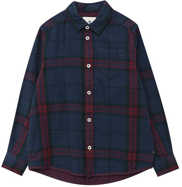 Рубашка для мальчика Tom Tailor, цвет: синий. 2033681.00.30_6758. Размер 1402033681.00.30_6758Рубашка для мальчика Tom Tailor выполнена из хлопка. Модель с длинными рукавами и отложным воротником застегивается на пуговицы.
