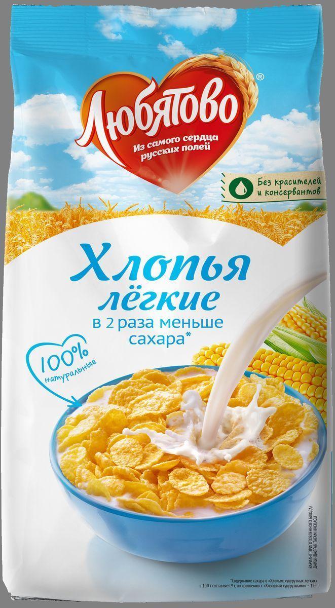 Любятово хлопья кукурузные легкие, 270 г4610003252731Хлопья кукурузы ЛЮБЯТОВО – это 100% натуральный продукт со сладким вкусом и привлекательным ароматом.