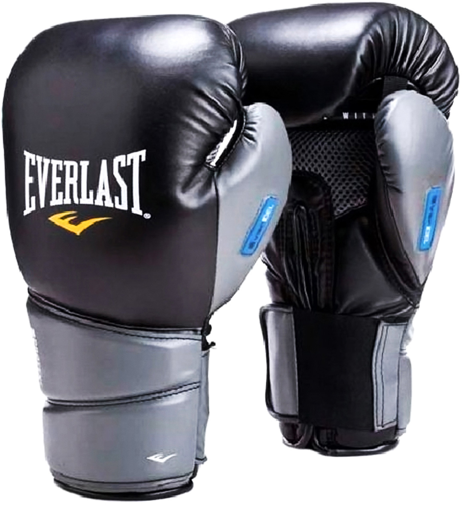 Перчатки боксерские Everlast Protex2 GEL 3112GLSMU, цвет: черный, 12 oz перчатки боксерские hayabusa ikusa charged 10oz gloves black purple