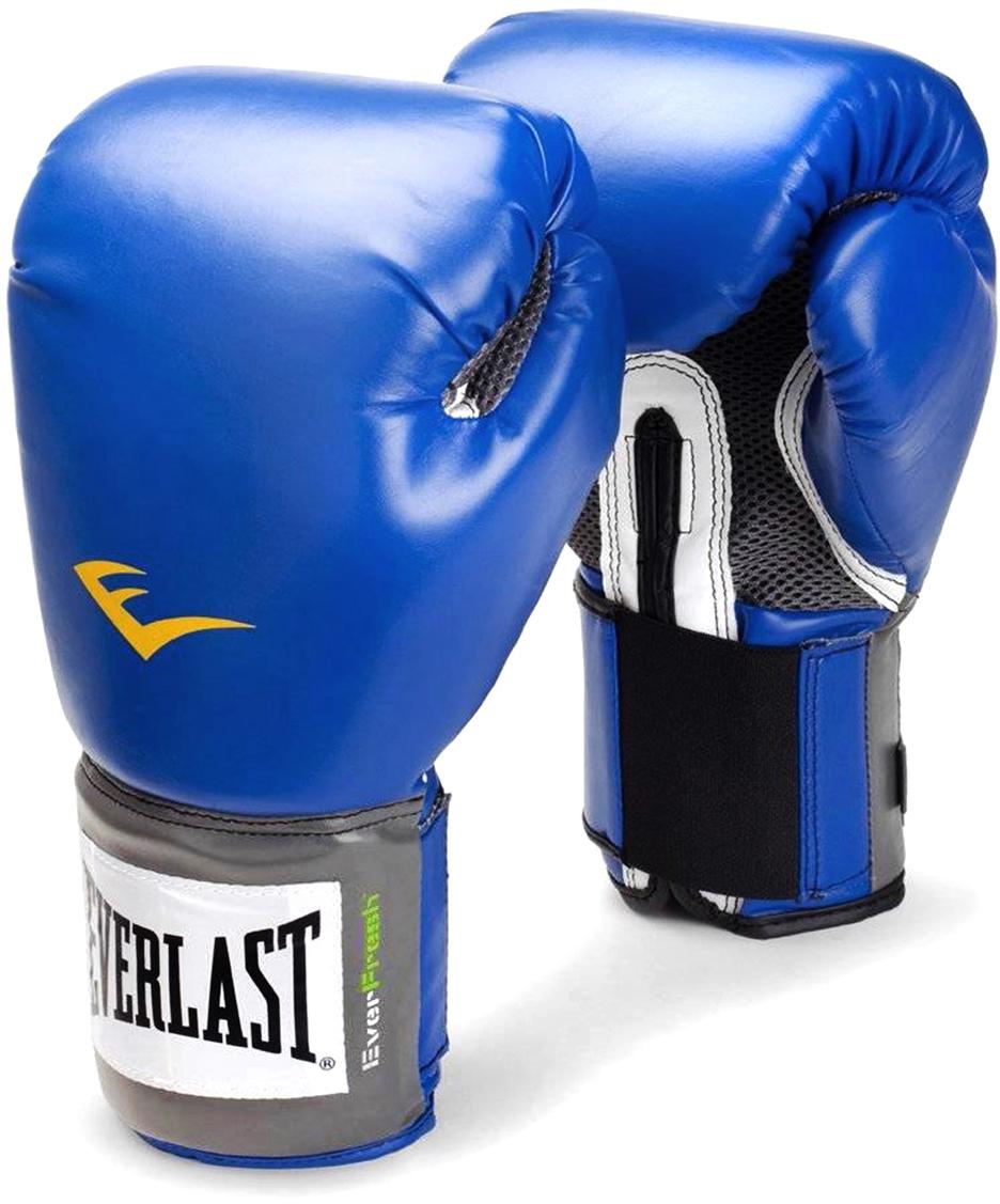 Перчатки боксерские Everlast Pro Style Anti-MB, цвет: синий, 10 oz. 2210U перчатки тренировочные everlast mma grappling цвет синий белый размер l xl
