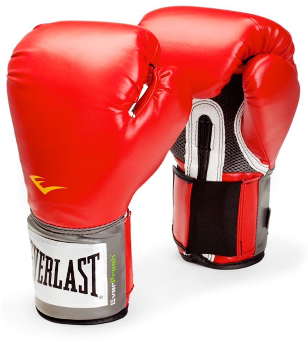 Перчатки боксерские Everlast Pro Style Anti-MB, цвет: красный, 12 oz. 2110UУТ-00004846Перчатки боксерские Pro Style Anti-MB - это тренировочные боксерские перчатки от популярного бренда Everlast. Перчатки имеют яркий цвет и сделаны из высококачественной и износостойкой искусственной кожи. Тренировочные боксерские перчатки имеют следующие особенности: высококачественный кожзаменитель наряду с превосходным дизайном - гарантируют качество, долговечность и функциональность перчаток; имеются мелкие отверстия по всей площади ладони, которые позволяют коже дышать, в то время как антибактериальная пропитка активно борется с плохим запахом и ростом бактерий, превосходно облегают кисть, следуя всем анатомическим изгибам ладони и запястья. Плотный двухслойный пенный наполнитель обеспечивает максимальную защиту рук спортсмена. Технологии: ThumbLok: система защиты большого пальца. Everfresh: антибактериальная защита от запаха.
