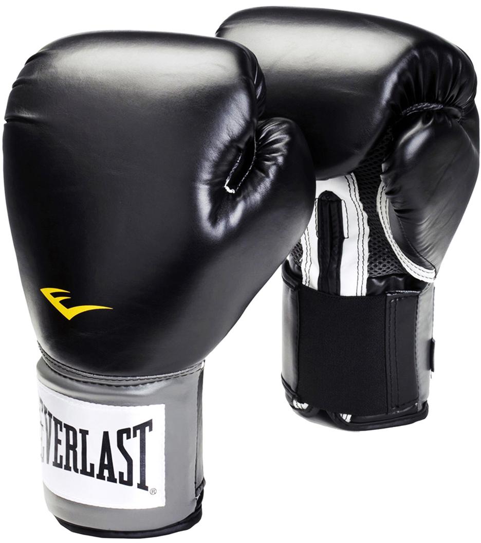 Перчатки боксерские Everlast Pro Style Anti-MB 2312U, цвет: черный, 12 oz