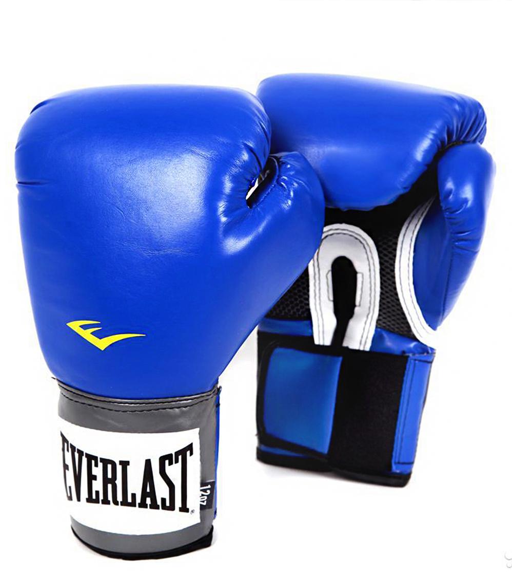 Перчатки боксерские Everlast Pro Style Anti-MB 2216U, цвет: синий, 16 oz