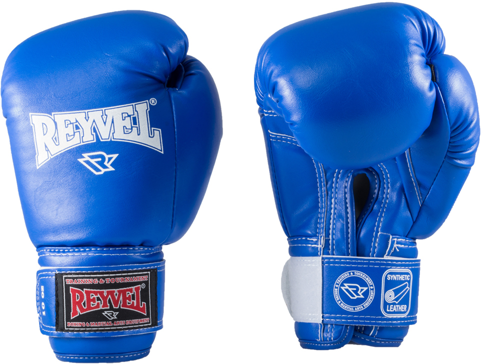 Перчатки боксерские Everlast Reyvel, цвет: синий, 8 oz. RV-101УТ-00008914Перчатки боксерские Reyvel - универсальные боксерские перчатки из винила широко используются спортсменами как на тренировках, так и на соревнованиях.Перчатки изготовлены из высококачественной винилискожи. Многослойный вкладыш из пенополиуретана и пенополиэтилена различных плотностей служит максимальной защитой рук. Застежка-липучка велкро позволяет легко надевать и снимать перчатки самостоятельно, при этом отлично фиксирует запястье. У перчаток удобный хват, они надежно защищают руки бойца.
