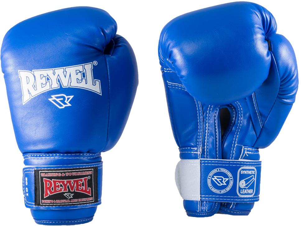 Перчатки боксерские Everlast REYVEL RV-101, цвет: синий, 10 oz